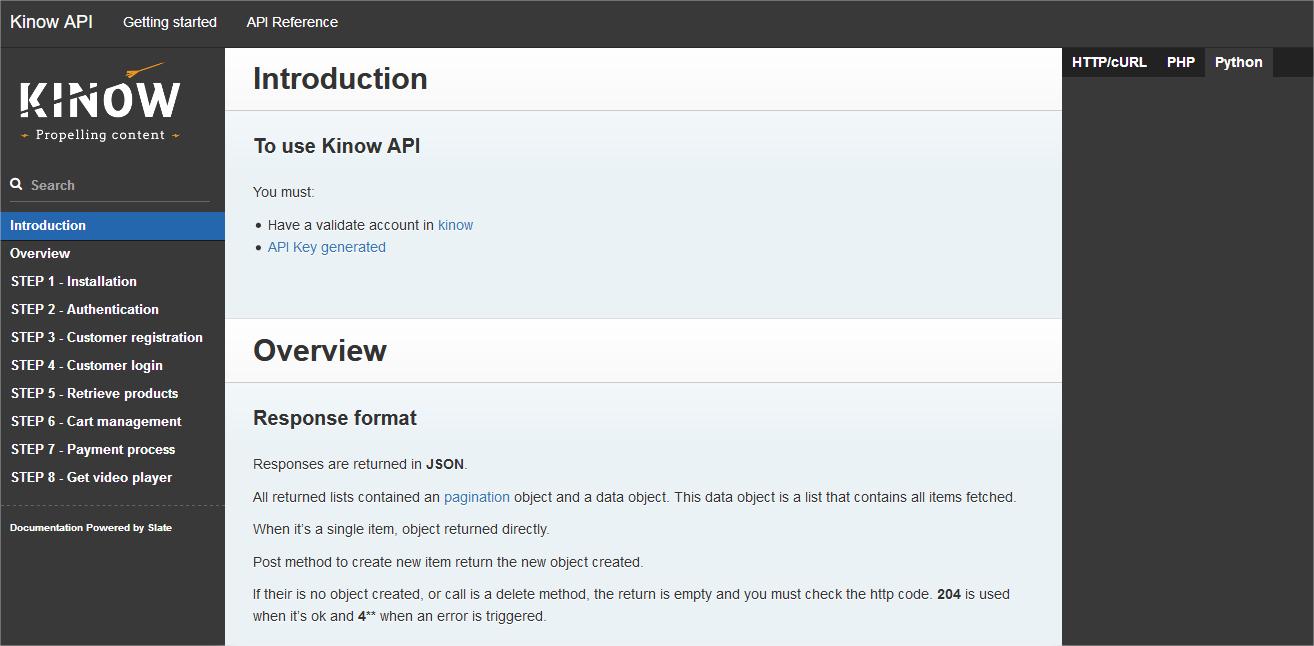 API serveur