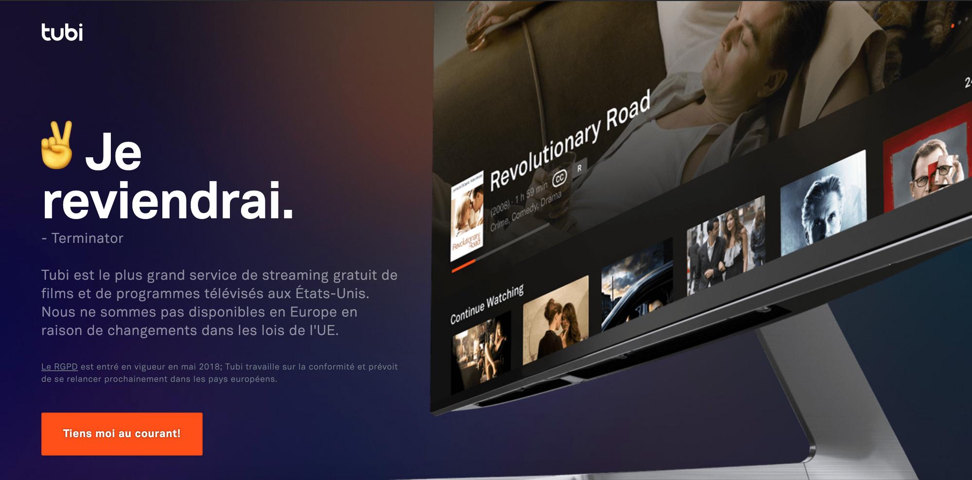 screen plateforme Tubi