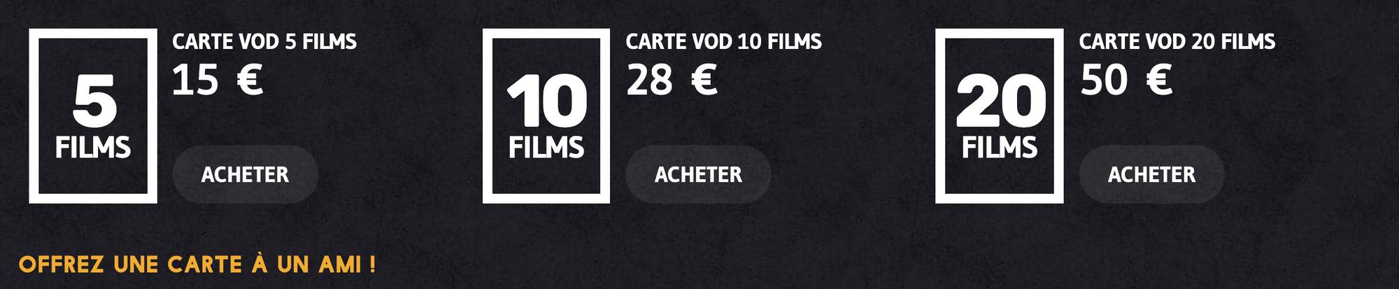 Offrir abonnements Cinemutins