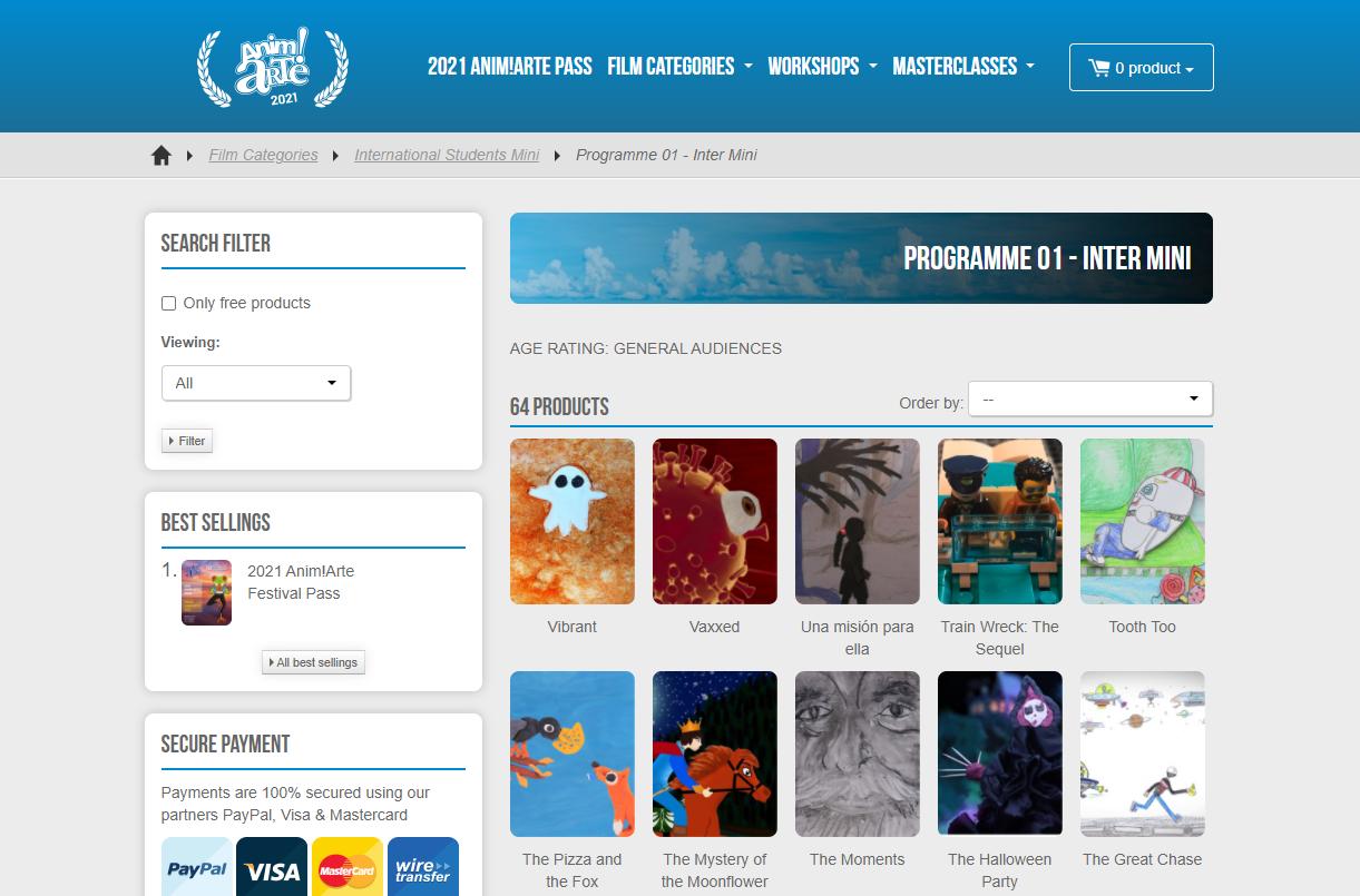 Le festival international d'animation brésilien Anim!Arte opte pour une version 100% online by Kinow